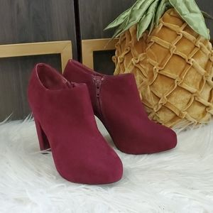 Nine West Burgundy Booties